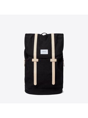 Sandqvist Stig Large Black Backpack