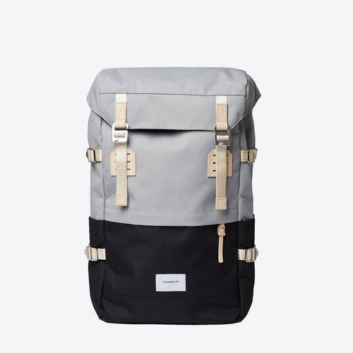 Sandqvist Harald Grey Black Backpack