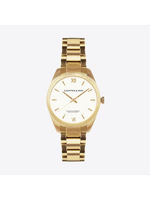 Kapten and Son Crush Gold Steel Horloge