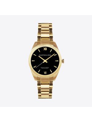 Kapten and Son Crush Gold Black Steel Horloge