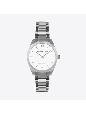 Kapten and Son Crush Silver Steel Watch