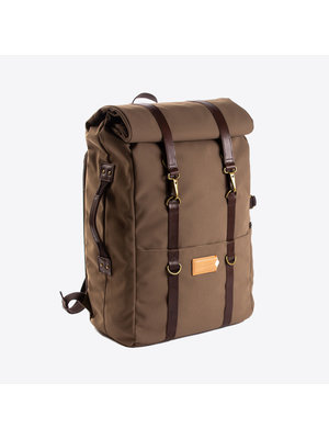 Property of Karl 48h Olive Brown Backpack