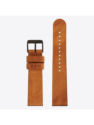 Komono Bracelet de Montre Cuir 20 Cognac Black