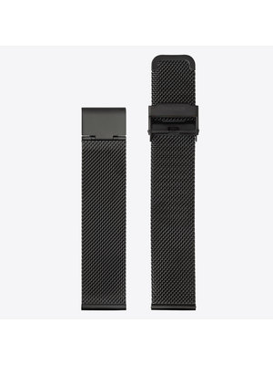Komono Komono Mesh Watch Strap 20 Black Mesh