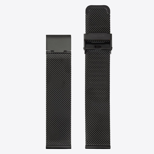 Komono Mesh Watch Strap 20 Black Mesh