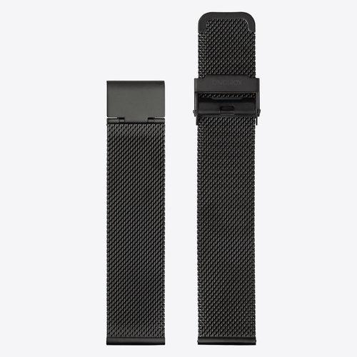 Komono Mesh Horlogeband 20 Black Mesh
