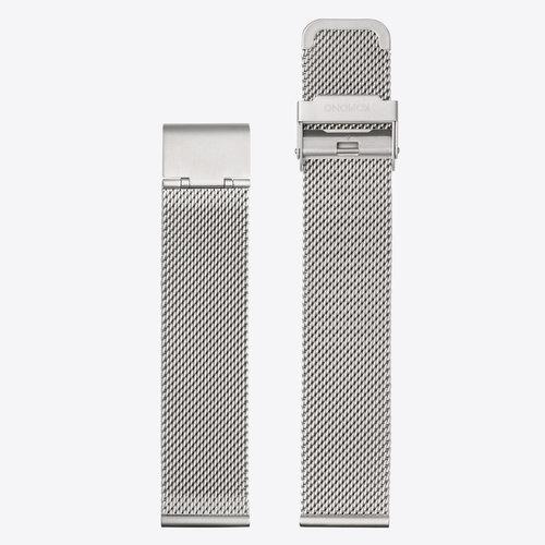 Komono Mesh Horlogeband 20 Silver Mesh