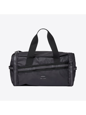 Sandqvist Leopold Black Duffel Backpack