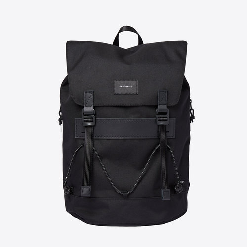 Sandqvist Johannes Black Backpack