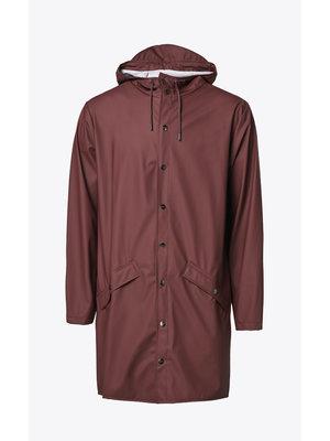 Rains Long Jacket Maroon Impermeable