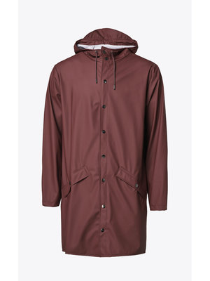 Rains Long Jacket Maroon Raincoat