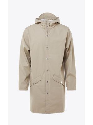 Rains Long Jacket Beige Impermeable