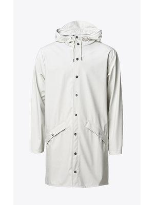 Rains Long Jacket Off White Impermeable