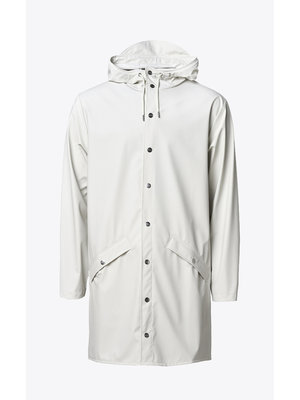 Rains Long Jacket Off White Raincoat