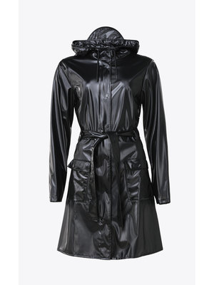 Rains Curve Jacket Shiny Black Raincoat