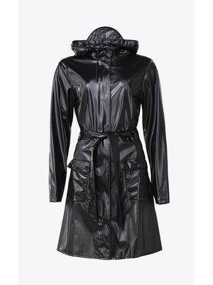 Rains Curve Jacket Shiny Black Regenmantel