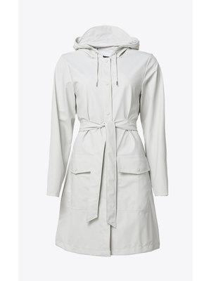 Rains Belt Jacket Off White Impermeable