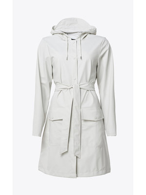 Rains Belt Jacket Off White Raincoat