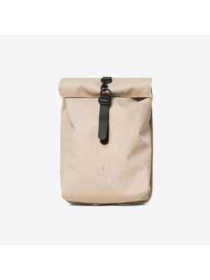 Rains Rolltop Mini Beige Backpack