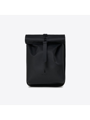 Rains Rolltop Mini Black Backpack