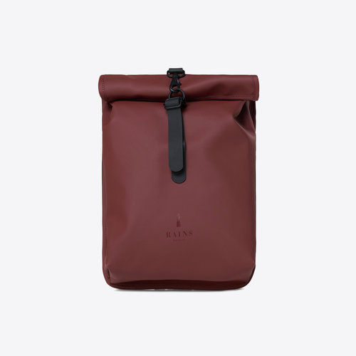 Rains Rolltop Mini Maroon Backpack
