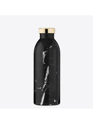 24Bottles Black Marble Clima Thermos Bottle 500ml