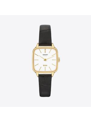 Komono Kate Croco Black Horloge