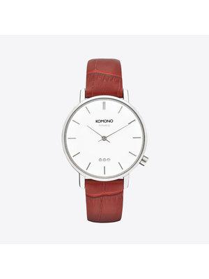 Komono Harlow Croco Red Horloge