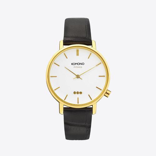 Komono Harlow Croco Black Watch