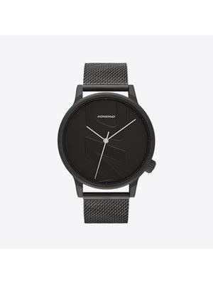 Komono Winston Mesh Tag Black Horloge