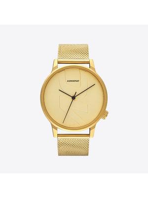 Komono Winston Mesh Tag Gold Watch