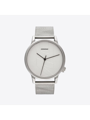 Komono Winston Mesh Tag Silver Horloge