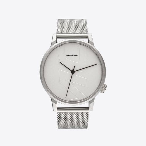 Komono Winston Mesh Tag Silver Watch