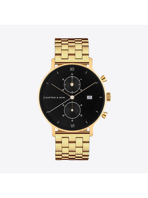 Kapten and Son Chrono Gold Black Steel