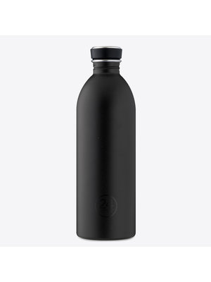 24Bottles Tuxedo Black Urban Drinking Bottle 1000ml