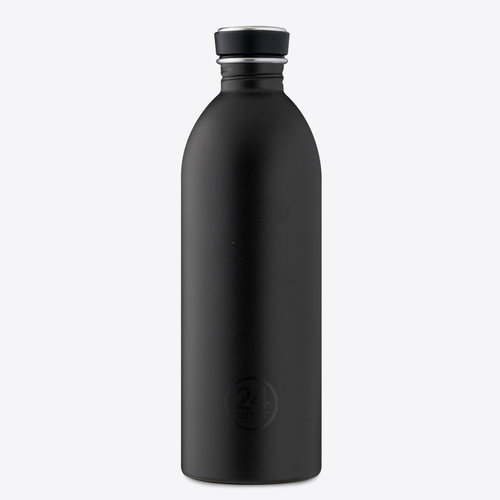 24Bottles Tuxedo Black Urban Drinkfles 1000ml