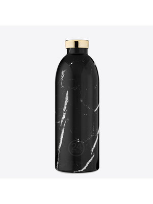 24Bottles Black Marble Clima Thermosfles 850ml