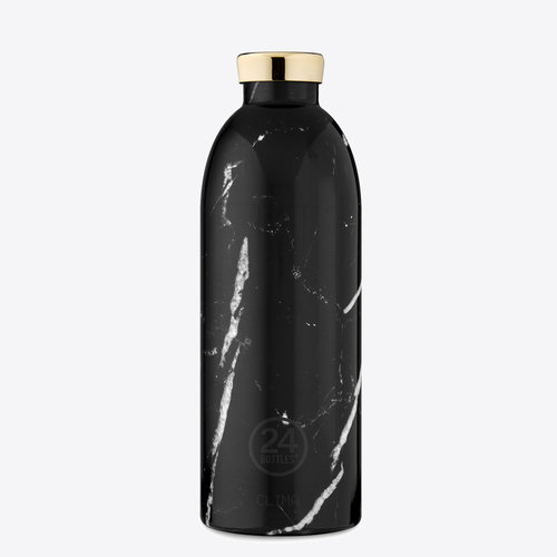 24Bottles Black Marble Clima Thermos Bottle 850ml