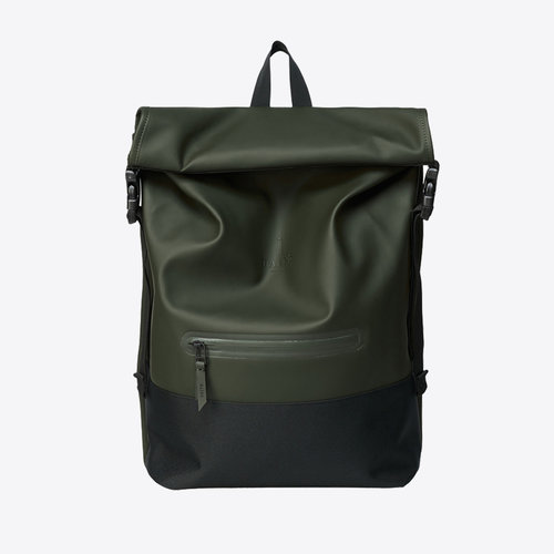 Rains Buckle Rolltop Green Backpack