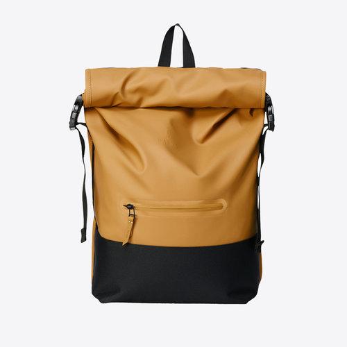 Rains Buckle Rolltop Khaki Backpack
