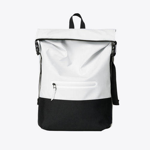 Rains Buckle Rolltop Off White Rugzak