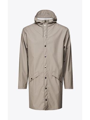 Rains Long Jacket Taupe Imperméable
