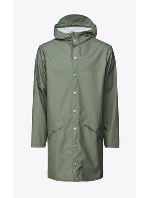 Rains Long Jacket Olive Raincoat