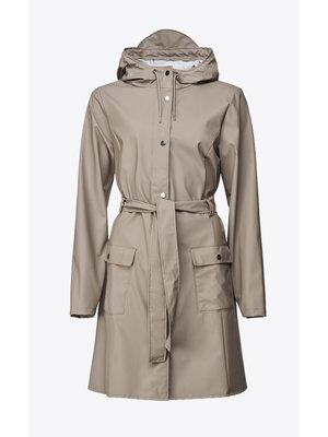 Rains Curve Jacket Taupe Raincoat