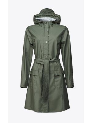 Rains Curve Jacket Olive Regenjas