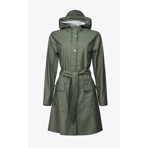 Rains Curve Jacket Olive Raincoat