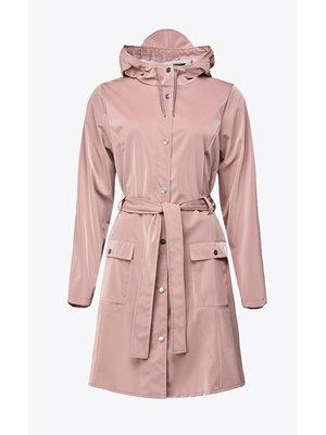 Rains Curve Jacket Blush Impermeabile