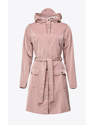 Rains Curve Jacket Blush Raincoat