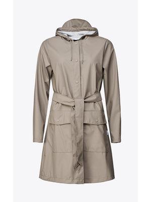Rains Belt Jacket Taupe Impermeabile