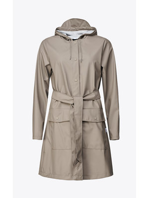 Rains Belt Jacket Taupe Raincoat